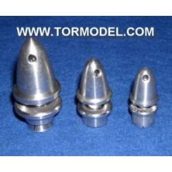 Adaptador Helice 3mm con cono de aluminio