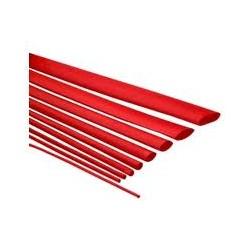 Funda termoretráctil de 1mm Rojo
