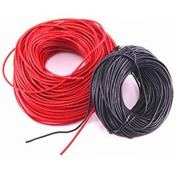 Cable silicona bateria AWG 18 (1mts.) Rojo+Negro