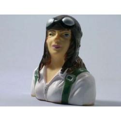 Piloto mujer escala 1/6 - 75x66x36mm.