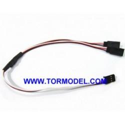 Cable Y para servos 10cm. Futaba (5 Unidades)