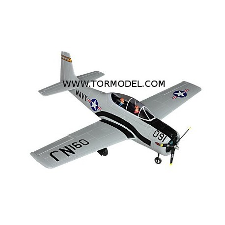T-28 Trojan Gris EPO - 1270mm. con tren retractil