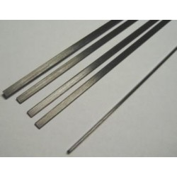 Varilla carbono plana 10 x 2 x 1000mm.