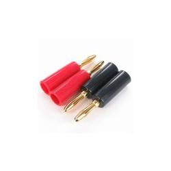 Pareja Banana 4mm - Rojo + Negro
