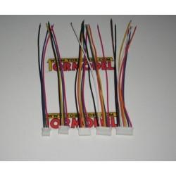 Conector Macho JST-HX Balanceo 3S (4 pins) con cable