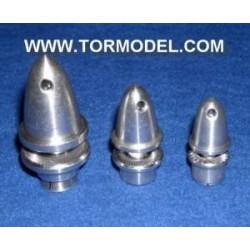 Adaptador Helice 2mm con cono de aluminio