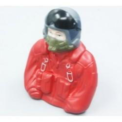 Piloto de combate escala 1/6 - 77x35x76mm. -Rojo