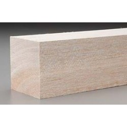 Bloque Balsa 600 x 80 x 80mm