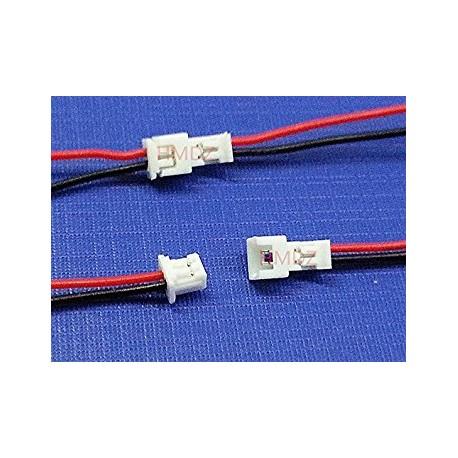 Conector JST GH 1.25 de 2 pins Macho/Hembra