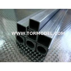 Tubo carbono Cuadrado 2.5 X 2.5 X 1000mm.