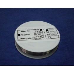 Hilo de Nicrom 0.15mm. para corte por hilo caliente - 6 metros