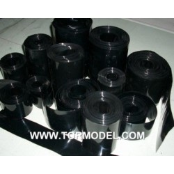 PVC termo-retractil bateria 130 mm negro