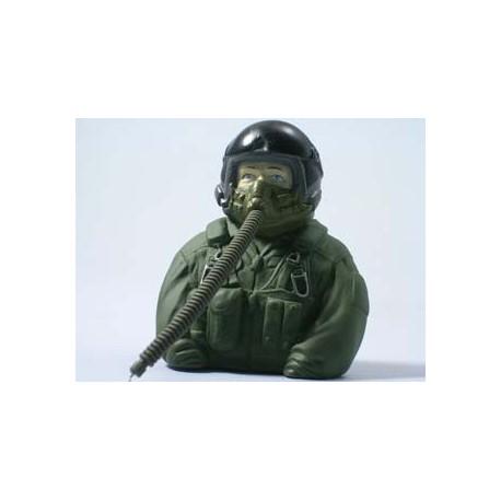 Piloto de combate escala 1/6 - 77x35x76mm.