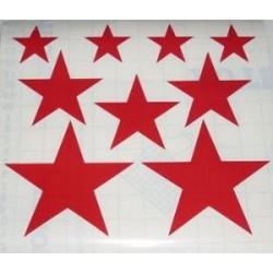 Pegatinas decoración estrellas 200x200
