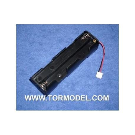 Porta pilas 8 elementos AA con conector