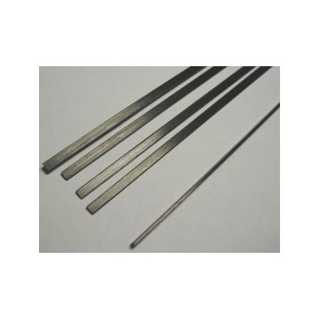 Varilla carbono plana 3 x 0.5 x 1000mm.
