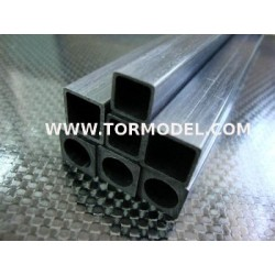 Tubo carbono Cuadrado 8 X 8 X 1000mm.