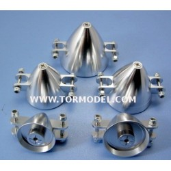 Cono aluminio para helices plegables 32mm Eje 3,2mm.