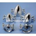 Cono aluminio para helices plegables 40mm Eje 3mm