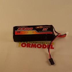 Bateria Lipo 2500mAh 11.1v (3S) para emisora (A)