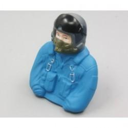 Piloto de combate escala 1/6 - 77x35x76mm. -Azul