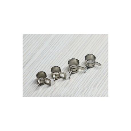 Clip para tubo combustible 4mm - Nickelado