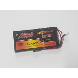 Bateria Lipo 2500mAh 7.4v (2S) para Tx/Rx (modelo B)