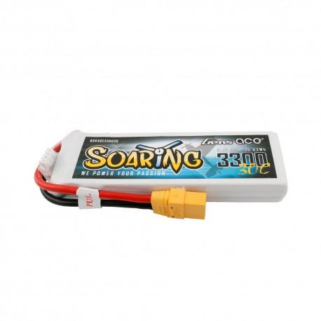Batería Lipo Gens ace Soaring 3300mAh 11.1V 30C 3S1P con enchufe XT90