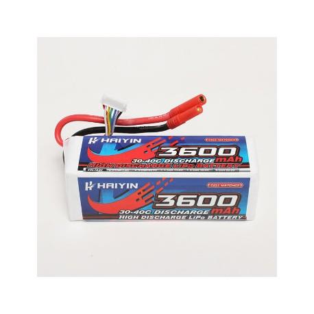 22.2V 3600mAh 30C Bateria Lipo Haiyin