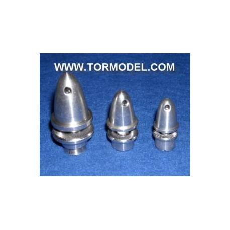 Adaptador Helice 4mm. aluminio con cono