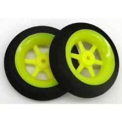Rueda espuma 30x1x7mm. Extra ligera amarilla