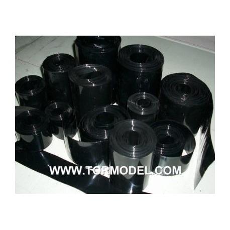 PVC termo-retractil bateria 70 mm negro